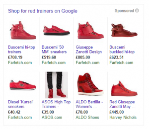 red trainers GSC search