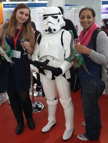 Becky with Storm Trooper