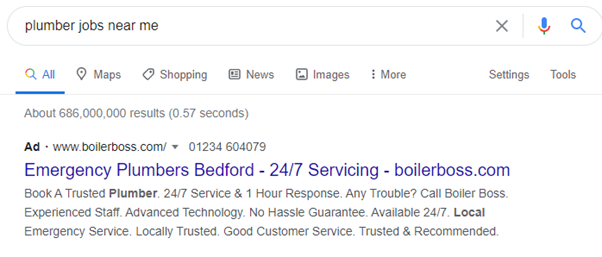 An example of what happens when you don't use negative keywords with Google Ads